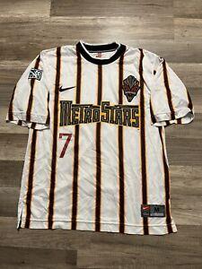 VTG New York Metrostars Mark Chung #7 Nike MLS Soccer Game Used Jersey Medium