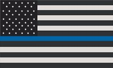"""1 - 4"""" Thin Blue Line American Subdued Flag Decal Usa Us Police Sticker R"""