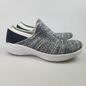Women's SKECHERS 'YOU' Sz 8.5 US Shoes White Black VGCon   3+ Extra 10% Off