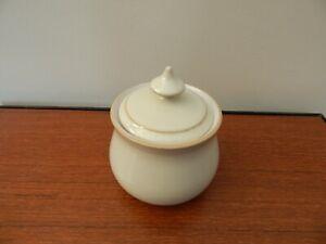 Denby linen sugar bowl 11 cm high excellent condition