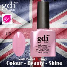 UK SELLER Gdi Nails NUDE Range U03 UV/LED Gel Soak Off nail polish