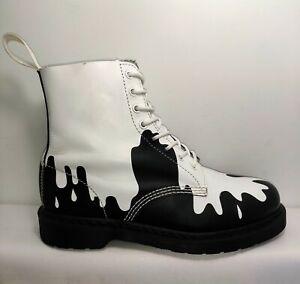 Dr. Martens 1460 PASCAL Paint Splat Combat Boots Women US 10 Men 9 Light Wear