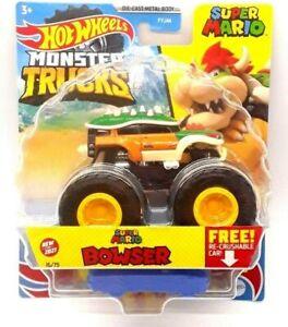 Hot Wheels Monster Trucks Super Mario Bowser Car (FJ44) | Brand New