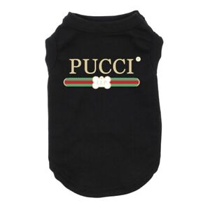 Designer Dog Shirt Pet Clothing Custom Dog Shirt for Small to Large Breeds PUCCI