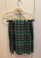 PURE Wool Kilt - Green Color leather buckles from Scotland