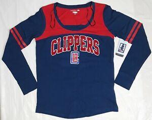LOS ANGELES CLIPPERS NBA 5th & Ocean New Era Womens Long-Sleeve T-Shirt M