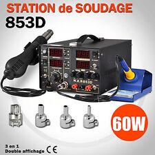 3en1 Station de Soudage Dessoudage Alimentation DC Ensemble Réparation à Souder