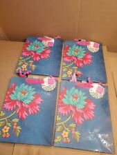 "LOT OF 4x NEW BLUE SARAH JESSICA PARKER HALLMARK GIFT BAG -FLOWER 10""x6""x13"" (("