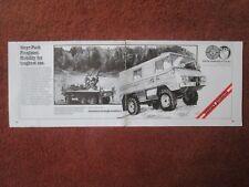 1/1982 PUB STEYR DAIMLER PUCH PINZGAUER 4X4 6X6 DCA ANTI AIRCRAFT ORIGINAL AD