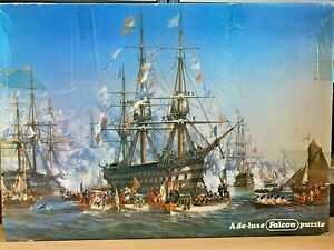 Falcon-Jigsaw Puzzles-1500 Pieces-The Royale-by Jules Noel-Games-Family-Vintage