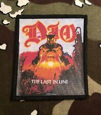 Dio Last In Line Printed Patch D039P Black Sabbath Judas Priest Iron Maiden