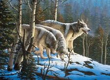 CEACO WOLVES JIGSAW PUZZLE WILDLIFE R.W. HEDGE 1000 PCS #3373-3