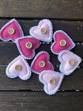 Deko Herzen Dekoration Stoff Rosa Pink Herz Liebe Hochzeit Geschenk 8 Stück