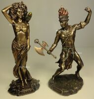 SET OF 2* ORISHA CHANGO & OSHUN God Goddess Yoruba African Statue Sculpture