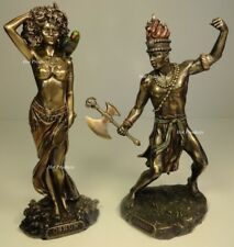 SET OF 2* ORISHA CHANGO & OSHUN God Goddess Yoruba African Statue Sculpture