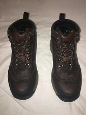 Timberland Backroad Leather Hiking Boots Shoes Brown Boys 3 - Excellent