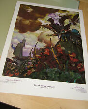 Battle Before the Gate print by Steve Hickman, # 77/150, signed - Christopher En