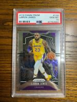 2019 Panini Prizm LeBron James PSA 10 GEM MINT #129 FIRST LAKERS PRIZM CARD