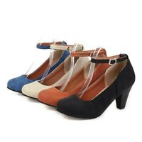 Women's Mary Jane Shoes Ankle Strap Chunky Heels Round Toe Pumps Fashion Sandals