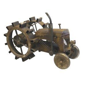 Large Antique Metal Tractor Replica Rustic Farmhouse Mantle Decor Vintage Model