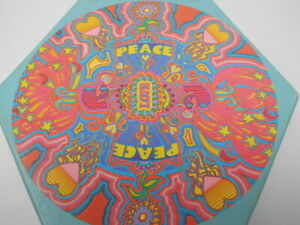 Vintage 1969 Fitting Reminder LOVE BURST Jigsaw Puzzle Peace Love Psychedelia