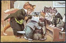 Cats Classroom about Mouse Signed Thiele Vintage Postcard