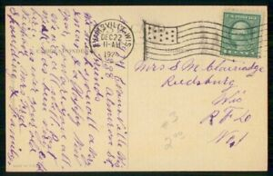 Mayfairstamps US 1929 Evansville Flag Cancel Washington Card Founding Father wwi
