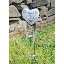 Special Mum Always Loved Sadly Missed Memorial Heart Shaped Wind Chime Graveside