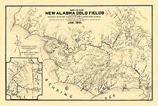 Mine Map - Alaska Gold Fields - Temple 1901 - 23.00 x 33.96