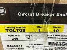 GE TQL70S, 70 Amp 240 Volt THQL Circuit Breaker Enclosure NEW