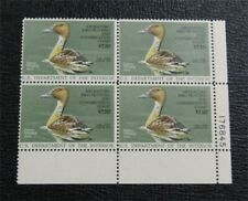 nystamps Us Duck Stamp # Rw53 Mint Og Nh $50 Plate Block Of 4