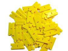 MINISCRAPER®  2X-Plus Plastic Razor Blades Thicker /Thinner Edges 100 Pack