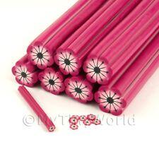 Caña De Dulces Rosa Flor para Arte en Uñas y joyas Unc16