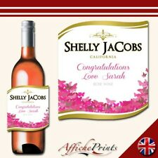 L36 Personalised Celebration Rose Wine Bottle Label - Perfect Gift Any Occasion!