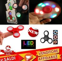 CON LED FIDGET SPINNER GIOCO RILASSANTE CUSCINETTO 3D ANTI STRESS TASCABILE new