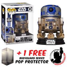 FUNKO POP VINYL STAR WARS R2-D2 DAGOBAH #31 EXCLUSIVE + FREE POP PROTECTOR