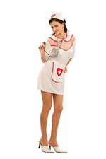 Sexy Nurse Uniform Womens Fancy Dress Costume Size 10 - 12