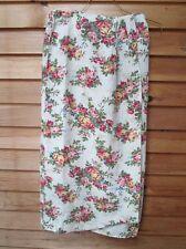 Vintage Wrap Around Straight Skirt,Womens 10,Floral Linen,Rayon,Cambridge Goods