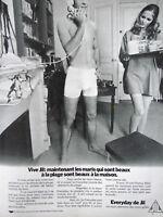 PUBLICITÉ DE PRESSE 1970 EVERYDAY DE JIL LES SOUS-VÊTEMENTS DES MARIS GÂTÉS