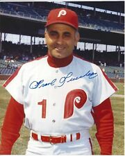 Frank Lucchesi Autographed 8x10 Philadelphia Phillies Free Shipping Deceased