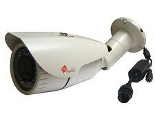 3mp IP BULLET TELECAMERA Varifocale 2.8-12mm 42 LED'S 40 M Visione Notturna Bianco POE