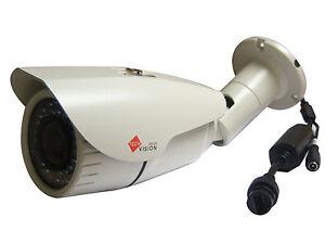 CCTV 3MP Network IP POE Bullet Camera Varifocal 2.8-12mm Lens Night Vision 40m