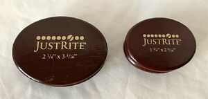 Justrite OVALS Wood Rubber Stamp Stamping Mounts 2 1/4th x 3 1/16 Lot of 2