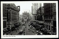 New York, NYC Times Square Street View unposted RPPC Real Photo Postcard ny3