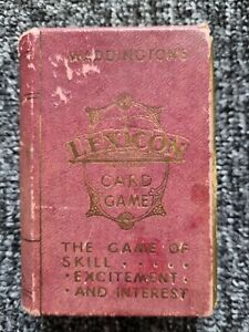 Vintage Waddingtons LEXICON Card Game complete. 1940s-1950's. Look!!!!!