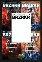 BRZRKR 1 5 Cover Set 3/10/21 Keanu Reeves Boom Studios!