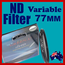 77mm Neutral Density ND filter adjustable variable ND2 to ND400 OZ stock