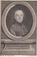 Portrait XVIIIe Germain François Poullain de Saint-Foix Mousquetaire Ecrivain