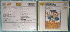 CARL MARIA VON WEBER - AUFFODERUNG ZUM TANZ - VON KARAJAN - 1 CD n.2156