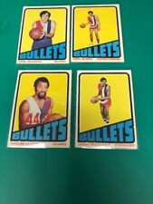 4 LOT 1972 1973 Topps #37 61  87 120 Basketball Card Bullets